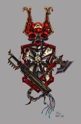 Warhammer 40k Tattoo design [colour] by grendeljd