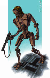 T4-K2 assassin droid [colour] by grendeljd