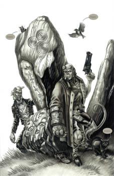 Hellboy 20th Anniversary - greyscale