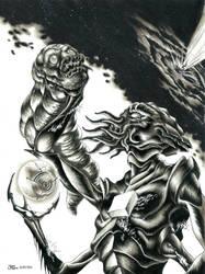 Black Hole Hunters Club #6 Cover - Marker Render by grendeljd