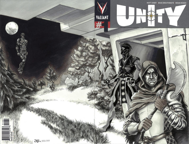 Unity #1 Sketch Cover Commission by grendeljd