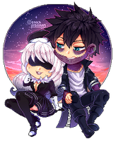 : [ Enigma ] : BNHA OC pixel Chibi Gift : by bakawomans