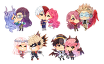 : PixelComm Batch of BNHA OCs and ships :
