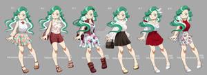 : [ Oshiro Yomi : Wardrobe part 2 ] BNHA OC :