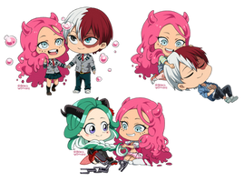 : CookieChibiComm: Hanari and Co. BNHA OCs : by bakawomans