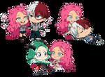 : CookieChibiComm: Hanari and Co. BNHA OCs :
