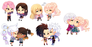 : PixelComm Batch of OCs and ships :