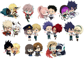 : CookieChibiComm: Batch of OCs : by bakawomans