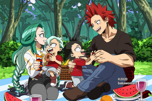 : [ Kirishima family outside ] BNHA OC :
