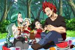 : [ Kirishima family outside ] BNHA OC :