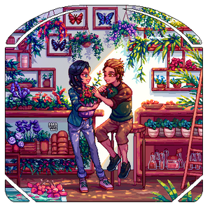 : PixelComm: Flower shop :