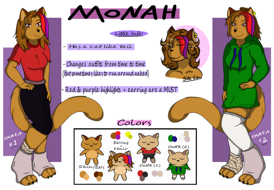 Monah: Reference Sheet by x2rc096