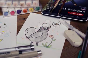 Polish hen
