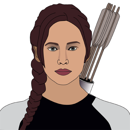 Jennifer lawrence as katniss everdeen by talkingstickers on deviantart jennifer lawrence as katniss everdeen by talkingstickers voltagebd Image collections
