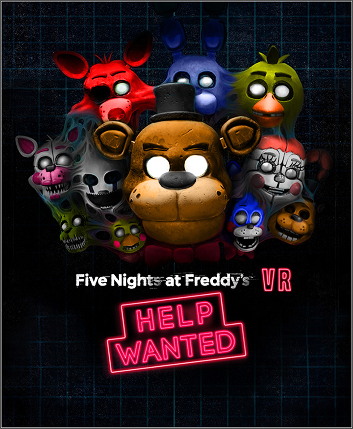 Fnaf Help Wanted Postal With Color By Darktaurusyt On -7520