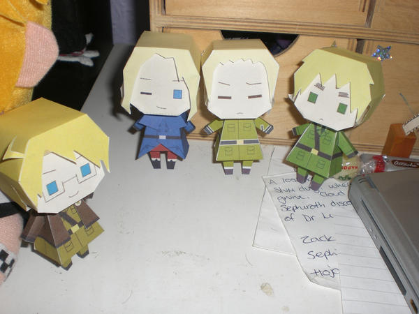 Hetalia Papercraft Dolls by sparrowhawk51