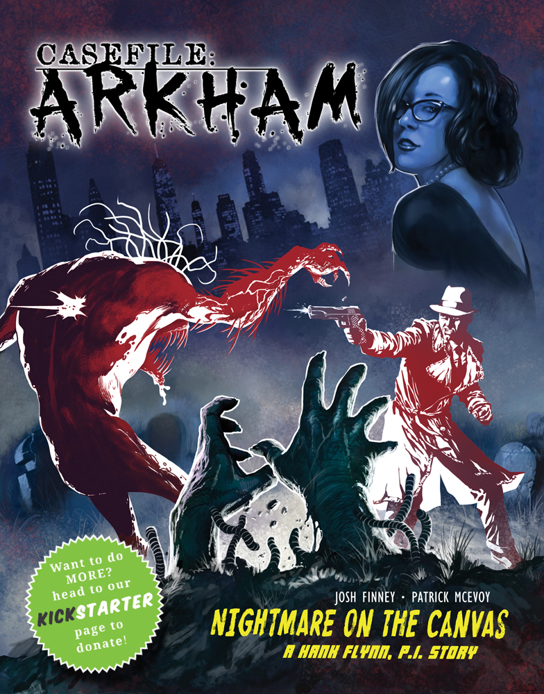CASEFILE ARKHAM cover art by Josh-Finney