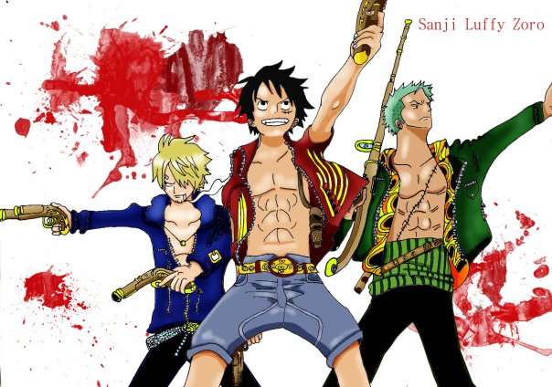 Sanji Luffy Zoro by BK...