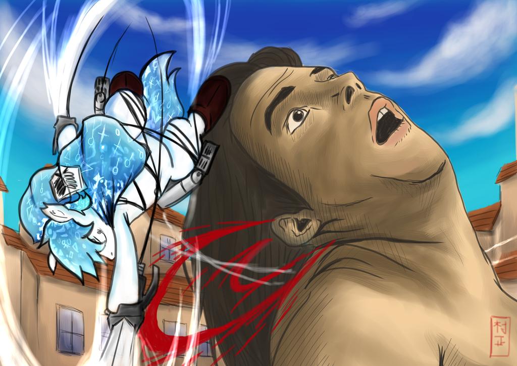 Shingeki no Kyojin : Haylee-Heichou vs Egoraptor by Muramasa91