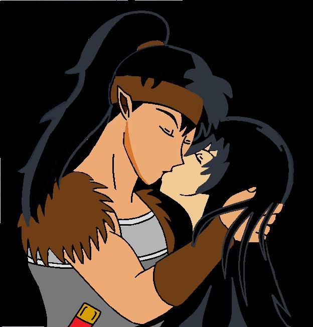 Kagome And Koga Kiss Koga and kagome kiss
