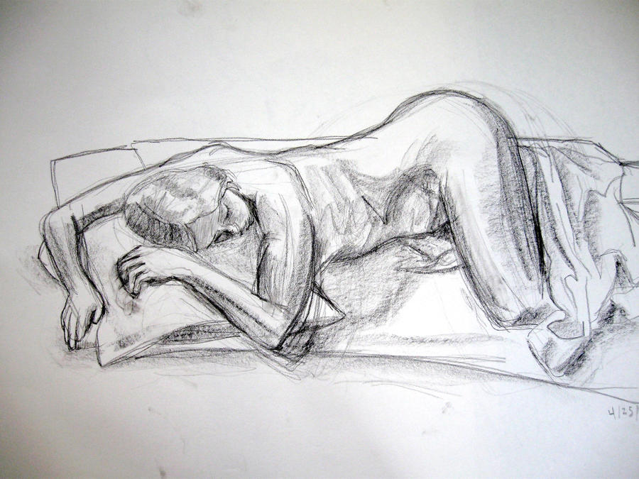 Teen drawing nude Embarrassed