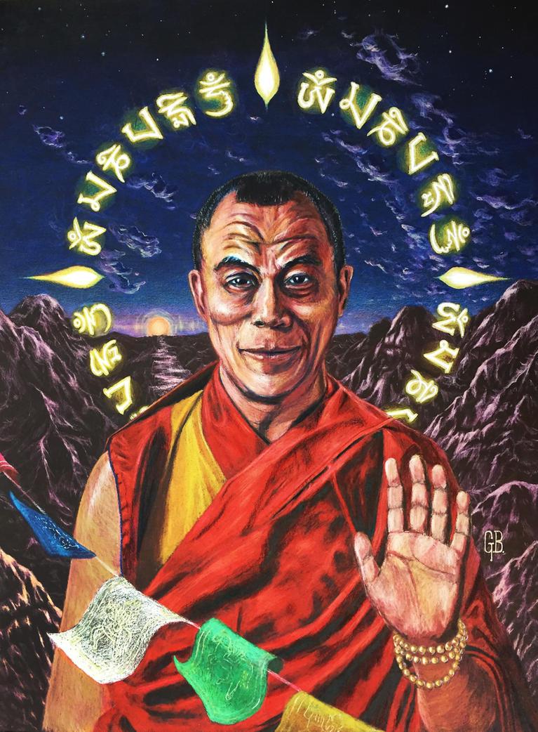 H. H. The Dalai Lama by Kiminjo
