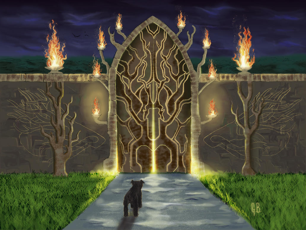 Gate to the Fire Garden by Kiminjo