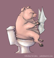 Shit Pig by jadress