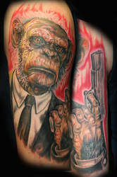 Chimp with a Handgun