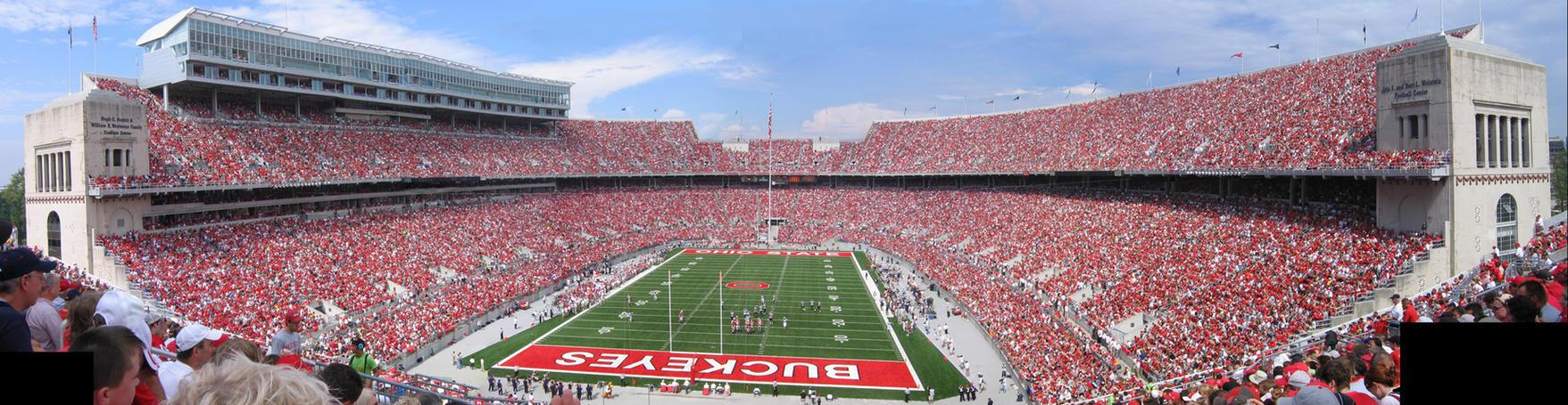 Ohio Stadium Panorama II by AreteEirene