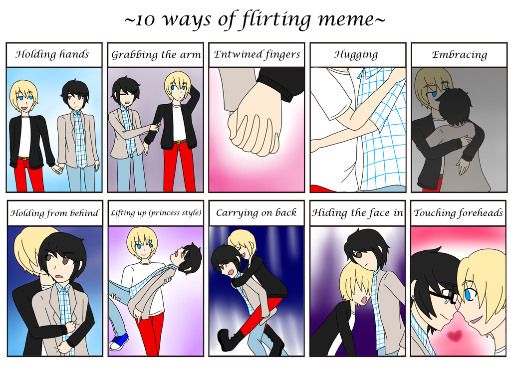 my idea of flirting meme These verbs mean to deal lightly, casually, or flippantly with someone or something: flirted with the idea of getting a job flirted gerund: flirting.