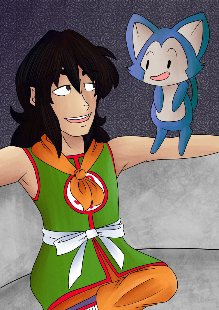 Yamcha and Puar for YamchaFan91 by wolf-fang-finny