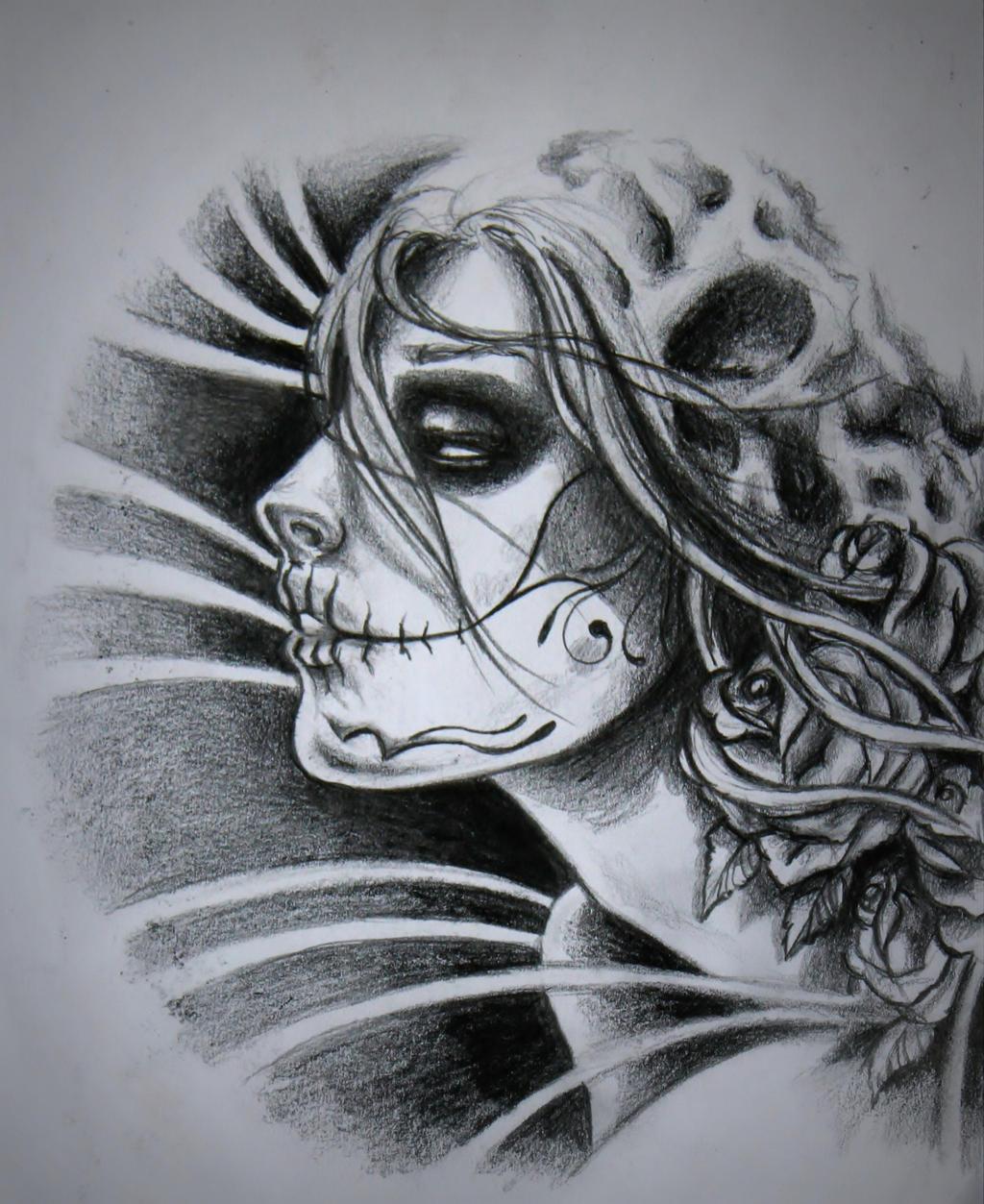 mexican sugar skull by kisuliini on deviantart. Black Bedroom Furniture Sets. Home Design Ideas