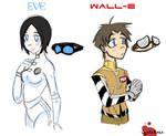 Human Wall-E and Eve