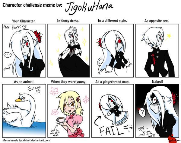 Character Design Challenge Deviantart : Character challenge meme by jigokuhana on deviantart