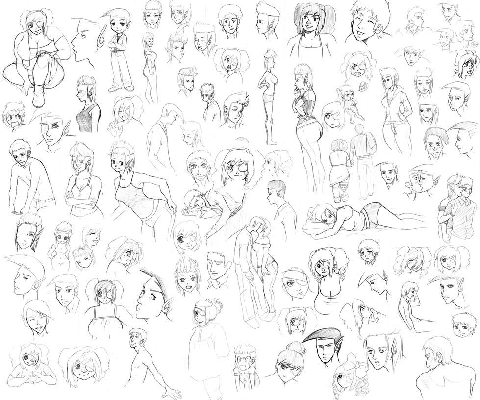 Nineball Sketch Dumpapalooza by Unumei