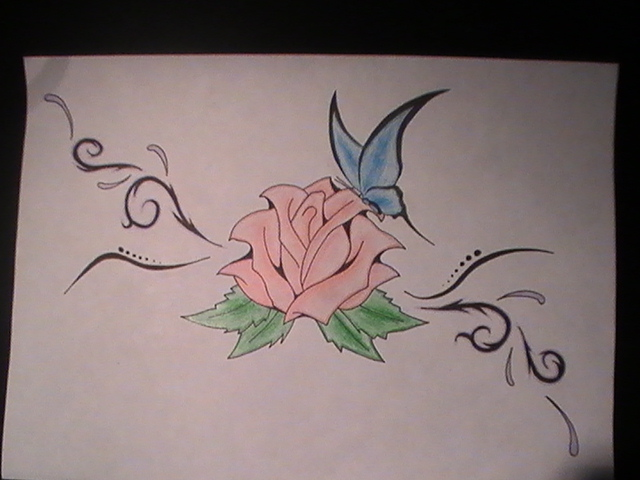 rose-butterfly-tribal ...