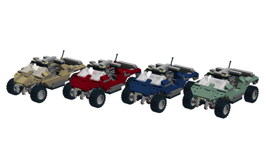 LDD - Lego Halo Warthog Collection by Cryptdidical on DeviantArt