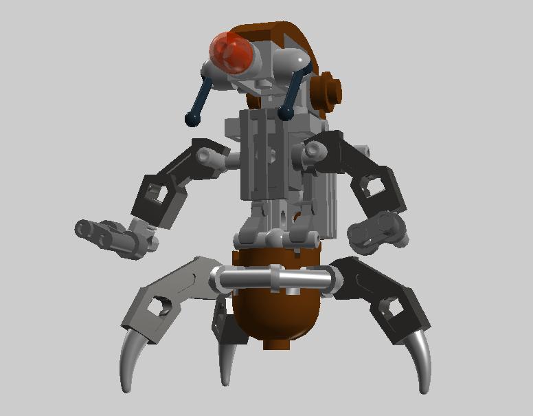 Lego Star Wars Destroyer Droid Ldd By Cryptdidical On Deviantart