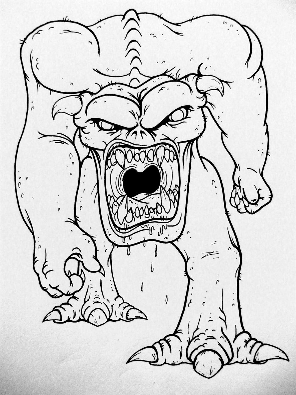 Fine Line Drawing Artists : Fine lines doom pinky demon by cryptdidical on deviantart