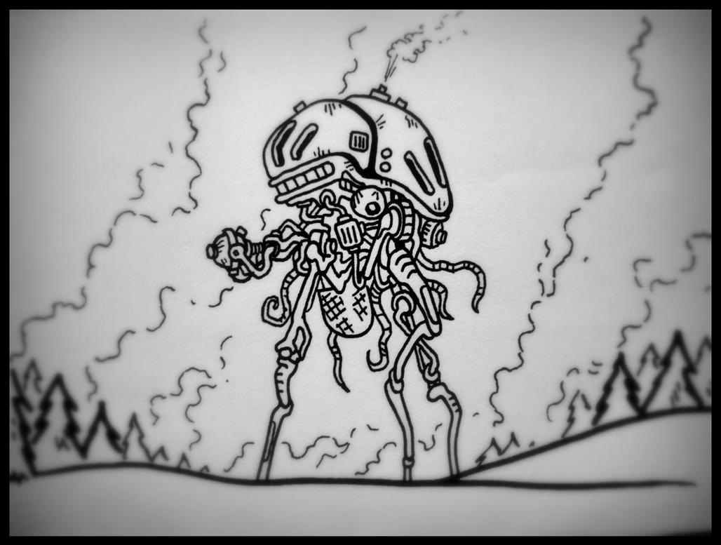 Martian Tripod Fighting Machine by Cryptdidical