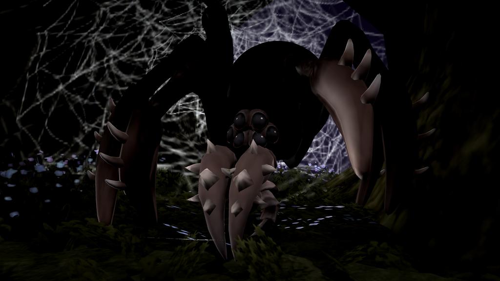 A Ruddy Great Big Spider by Cryptdidical