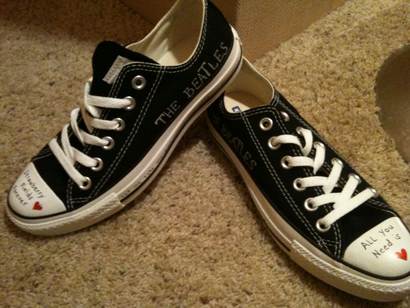 Buy Beatles Converse Shoes By Bacon Factory