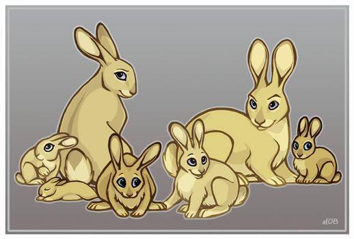 A Family of Rabbits by lyosha