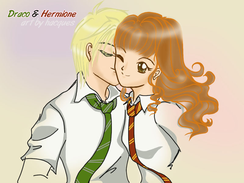 Draco Kiss Hermione by hacques