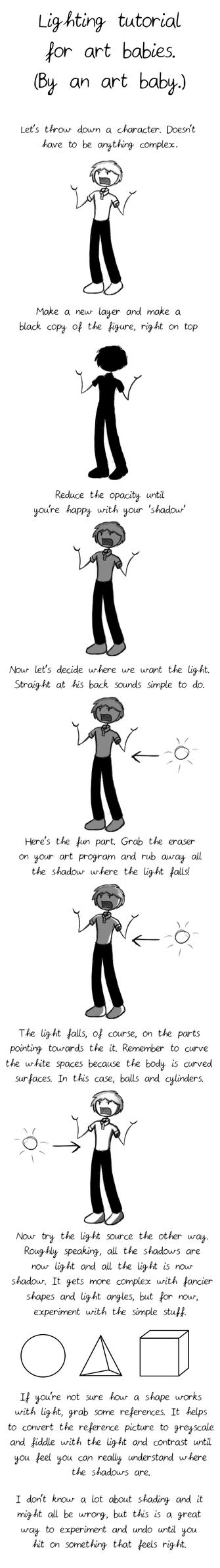 Very basic lighting tutorial by Desert-Lilly