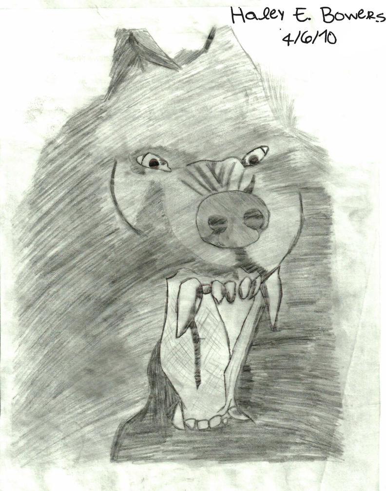 Van Helsing Werewolf Drawing by lollilover18Van Helsing Drawing
