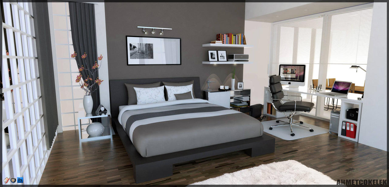 Image gallery sketchup bedroom for Model bedroom interior design