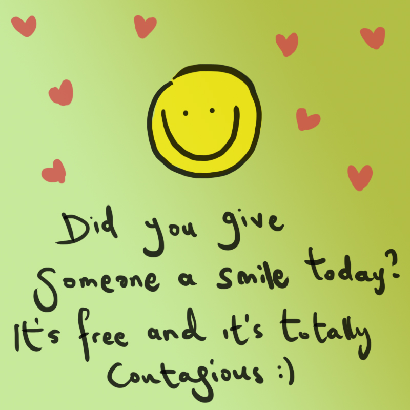GIVE SOMEONE A SMILE TODAY by thedoodlehead on DeviantArt