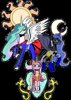 Celestia V Luna - Dawn Of Ponies